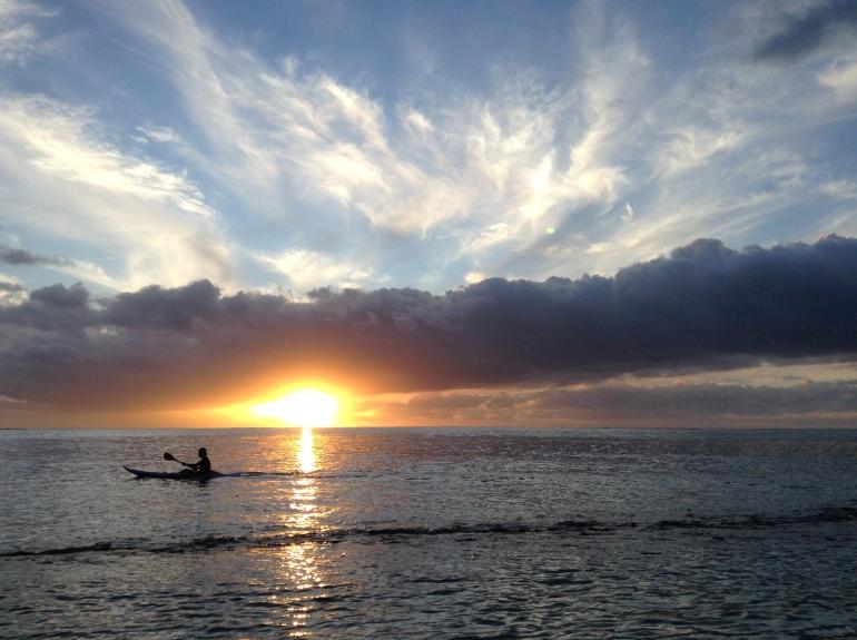 Abendsport in Französisch Polynesien